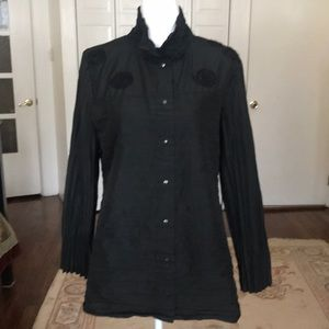 Babette wrinkled  button down blouse  light jacket
